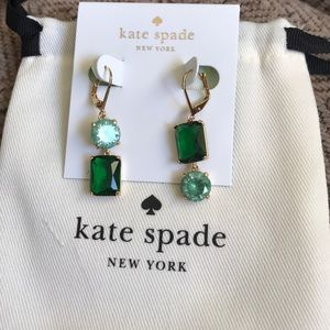 Kate spade green mismatch earrings lever back